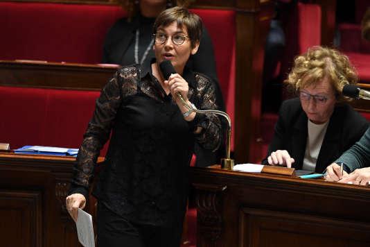 La ministre des outre-mer, Annick Girardin, le 20 mars 2018 à l'Assemblée nationale.