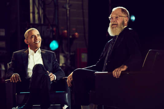 Barack Obama, premier invité de marque de David Letterman.