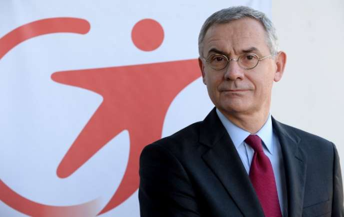 Thierry Mallet, le PDG Transdev, à Paris, 5 décembre 2016.