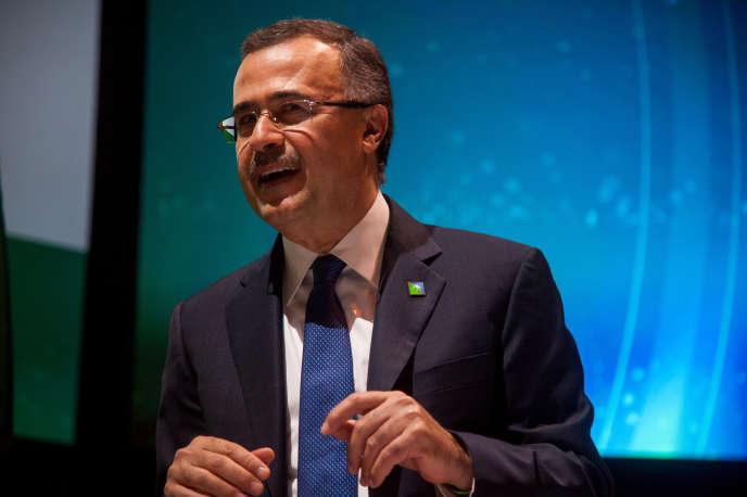 Amin Nasser, PDG de Saudi Aramco, la compagnie pétrolière d'Arabie saoudite, à New York, le 27 mars.
