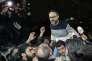 Le comédien Ziad Itani, à sa sortie de prison, le 13 mars, à Beyrouth.