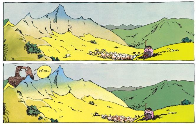 Extrait de l'album«Bêêêêstes of le Génie des Alpages» (Dargaud).