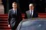 Emmanuel Macron et Francois Hollande, le 14 mai à l'Elysée à Paris.