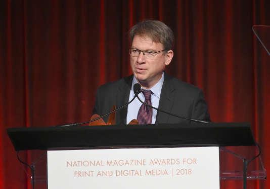 Jeffrey Goldberg, rédacteur en chef du magazine «The Atlantic», le 13 mars à New York.
