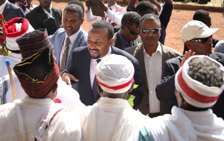 Le nouveau premier ministre éthiopien, Abiy Ahmed, en visite à Ambo, en région Oromia, le 11avril 2018.