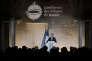 Emmanuel Macron lors de son discours a la Conférence des évêques de France au collège des Bernardins, à Paris, le 9 avril.