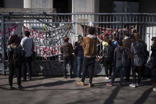 Le site de Tolbiac (Paris-I), mardi 11 avril 2018.