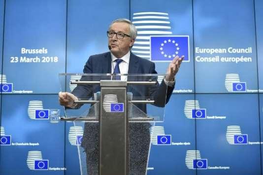 Jean-Claude Juncker, président de la Commission européenne, le 23 mars à Bruxelles.