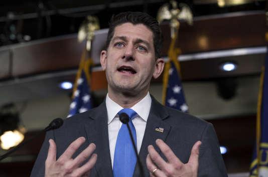 Paul Ryan, président de la Chambre des représentants, lors d'une conférence de presse à Washington le 11 avril.