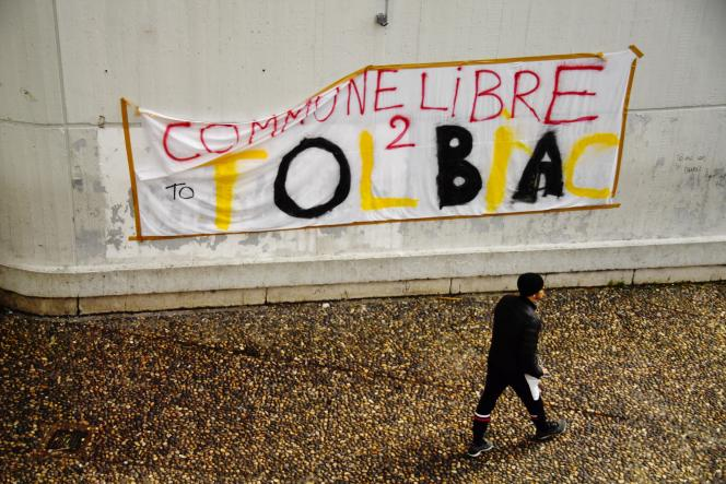 Sur le site de Tolbiac de l'université Paris-I Panthéon-Sorbonne, mercredi 4 avril.