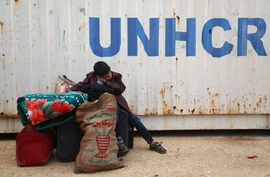 Un jeune Syrien, originaire de Douma (Ghouta orientale) dans le camp de réfugiés de Al-Bil, dans le nord de la Syrie, le 10 avril.