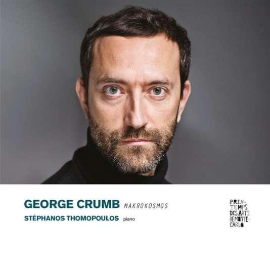Pochette de l'album«Makrokosmos», de George Crumb, pièces pour piano interprétées par Stéphanos Thomopoulos.