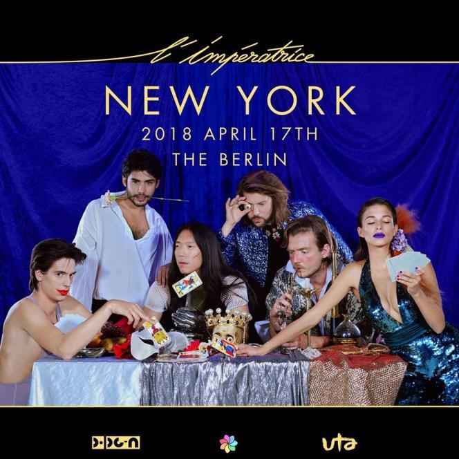 Le groupe L'Impératrice sera en concert à New York, le 17 avril 2018.
