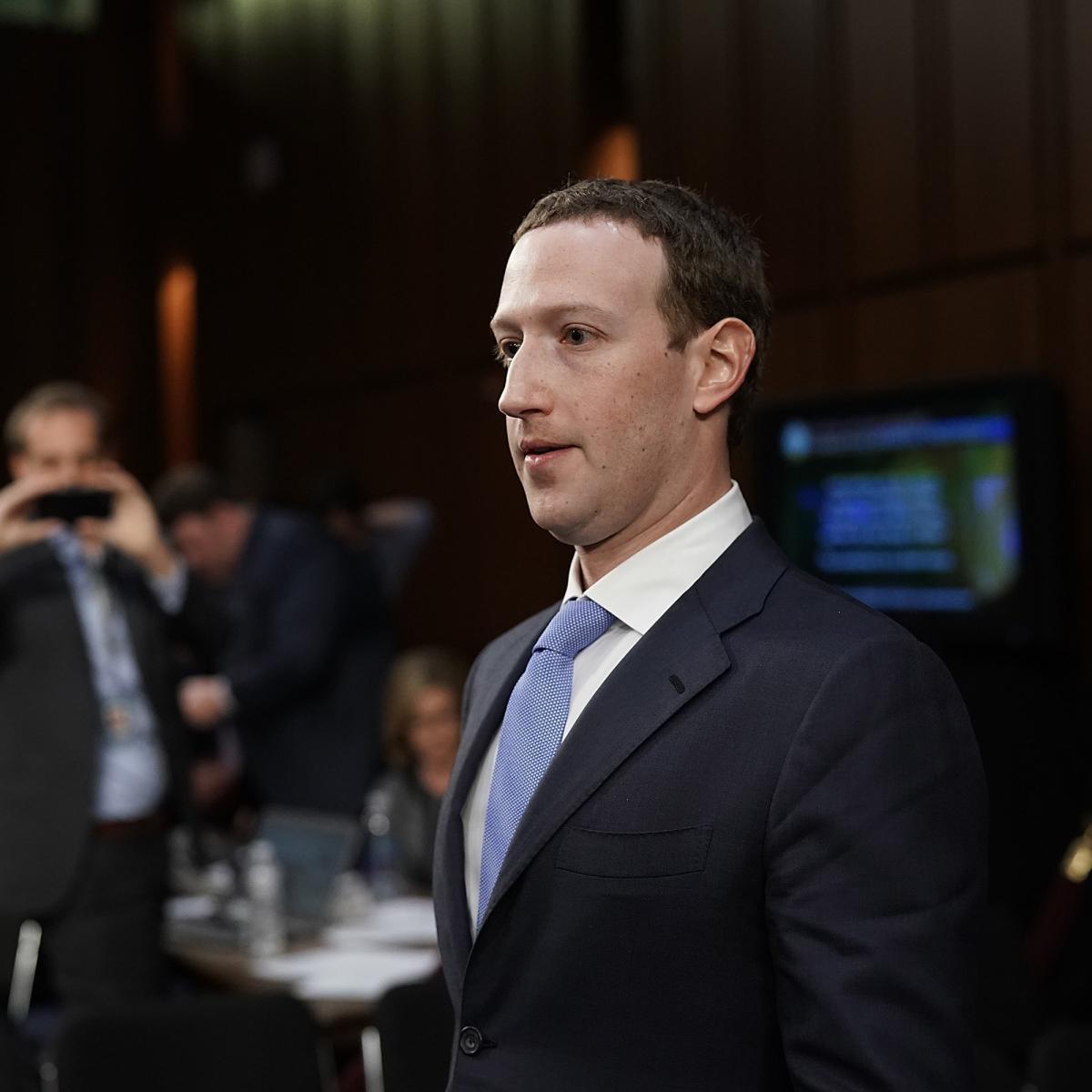 Mark Zuckerberg entendu au Sénat, le 10 avril.