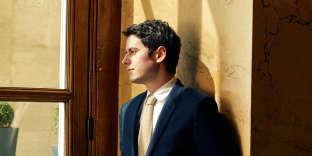 Le député des Hauts-de-Seine et porte-parole de LRM, Gabriel Attal, le 6 avril, à l'Assemblée nationale.