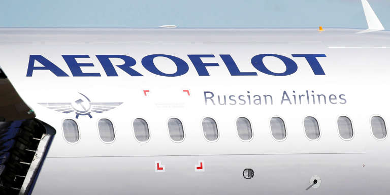 Le logo de la compagnie russe Aeroflot.