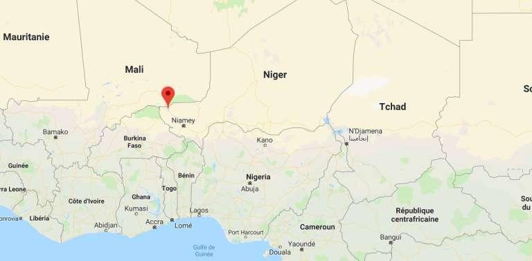 Carte de localisation de la ville d'Ayorou au Niger.