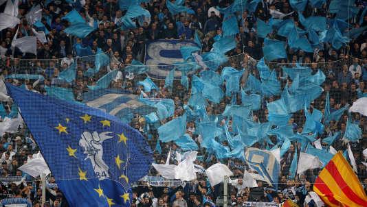 Les supporteurs de l'OM lors du match face à Leipzig, le 12 avril.
