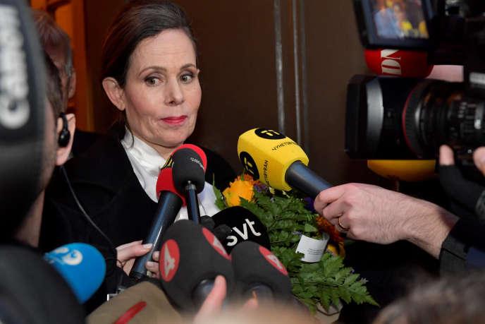 Sara Danius, la secrétaire perpétuelle de l'Académie suédoise a annoncé son départ, le 12 avril, à Stockholm, en Suède.