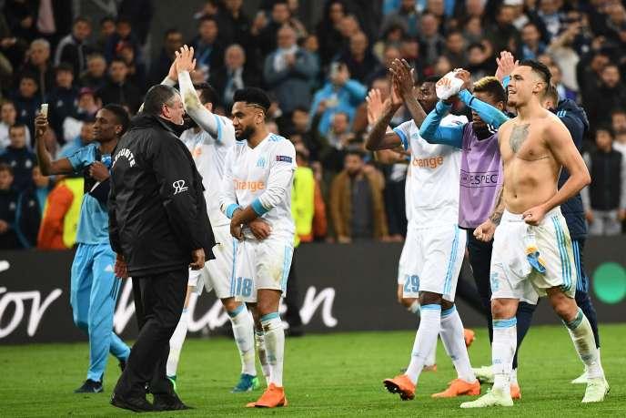 Les Marseillais se sont qualifiés pour les demi-finales de la Ligue Europa.