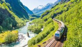Le Glacier Express en Suisse.