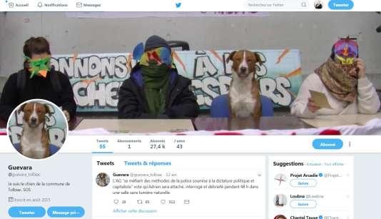 Copie d'écran du compte Twitter de Guevara.