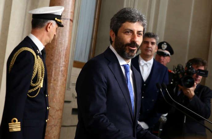 Le président de la Chambre des députés, Roberto Fico, en avril 2018.