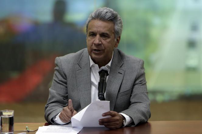 Le président de l'Equateur, Lenin Moreno, en avril 2018.
