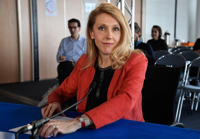 Sibyle Veil lors de son audition devant le Conseil supérieur de l'audiovisuel, à Paris.
