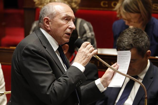 Le ministre de l'Intérieur, Gérard Collomb, lors des questions au gouvernement, à l'Assemblée nationale, le 11 avril.