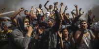 A Gaza , le 13 avril 2018. La société civile a imposé son mode de mobilisation et ses mots d'ordre au Hamas, très inquiet de perdre le contrôle de la situation dans un territoire à bout de souffle.