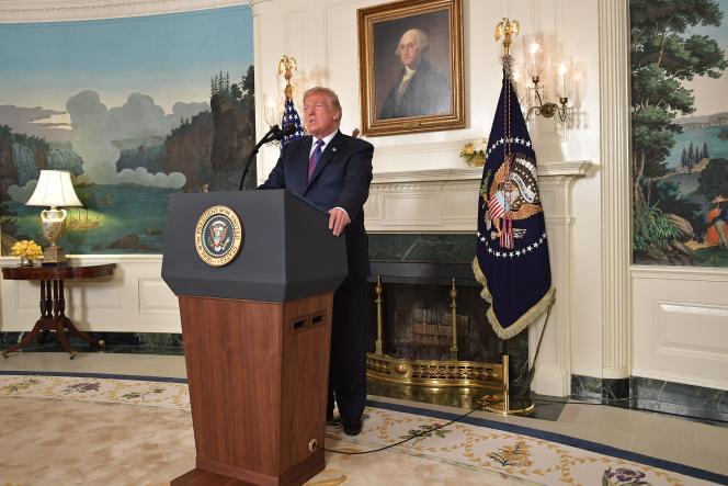 Donald Trump, le 13 avril à la Maison Blanche.