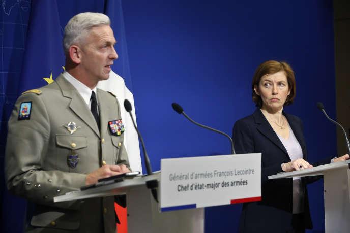 La ministre des armées, Florence Parly, et le général Lecointre, le 14avril 2018.