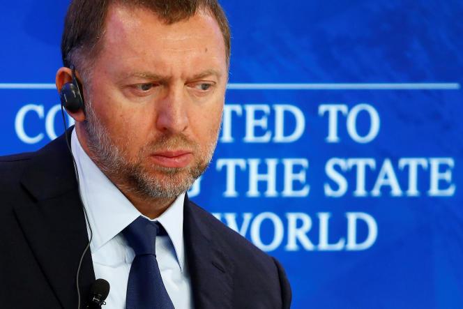 Oleg Deripaska, PDG de Rusal, à Davos (Suisse), le 21 janvier, lors du Forum économique mondial.