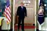 Donald Trump lors de son annonce des frappes américaines sur trois sites militaires syriens, à Washington, le 13 avril.