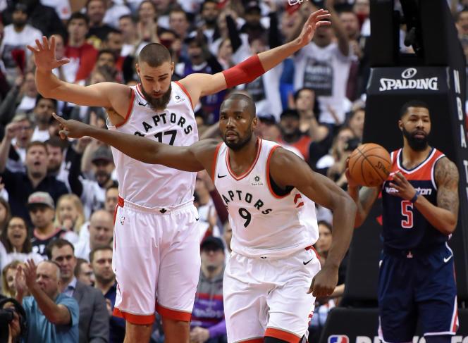 Serge Ibaka, lors de la victoire des Toronto Raptors contre les Washington Wizards, le 14 avril 2018.