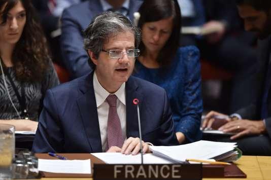 L'ambassadeur français aux Nations unies, Francois Delattre, le 14 avril 2018.