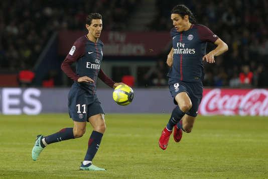 Edinson Cavani et Angel Di Maria ont remporté le septième titre de champion du Paris Saint-Germain sans réelle opposition.