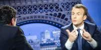 Emmanuel Macron, président de la république, est interviewé par Edwy Plenel et Jean-Jacques Bourdin sur BFM, dimanche 15 avril 2018 - 2018©Jean-Claude Coutausse / french-politics pour Le Monde