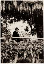 Clemenceau partagea avec Monet une longue amitié, ainsi que l'amour des jardins. Ils ont été photographiés ici (en 1921), sous la glycine en fleurs.