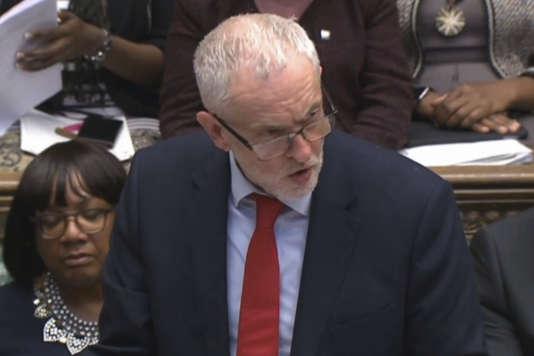 Jeremy Corbyn, à la Chambre des communes, lundi 16 avril.