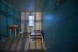 Une cellule du quartier disciplinaire de la prison de Condé-sur-Sarthe, dans l'Orne.