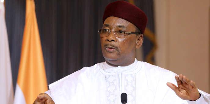 Le président nigérien Mahamadou Issoufou, à Niamey, le 23 décembre 2017.