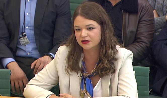 Brittany Kaiser, ancienne cadre de Cambridge Analytica, a témoigné devant des députés britanniques.