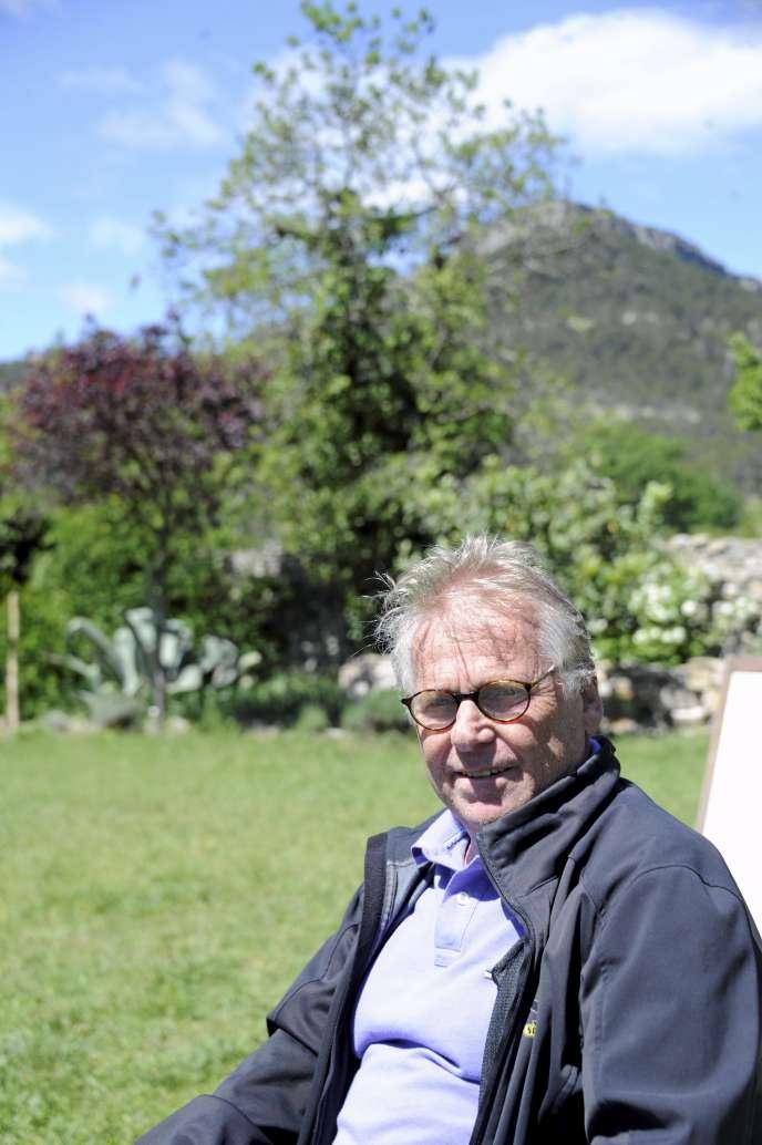 Daniel Cohn-Bendit dans sa maison à Lauret (Hérault), le 29 avril 2018.