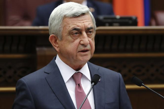 Serge Sarkissian lors d'une séance du Parlement, en avril 2018.