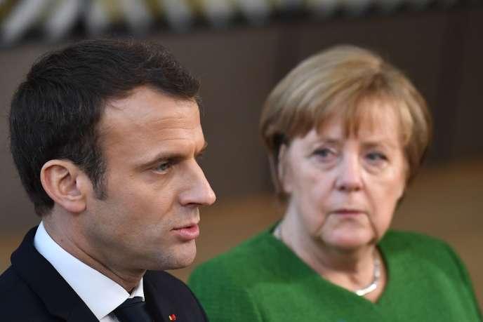Emmanuel Macron et Angela Merkel, à Bruxelles, le 23 février 2018.