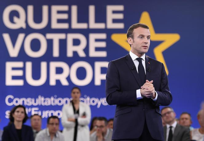 Emmanuel Macron, à Epinal, le 17 avril.