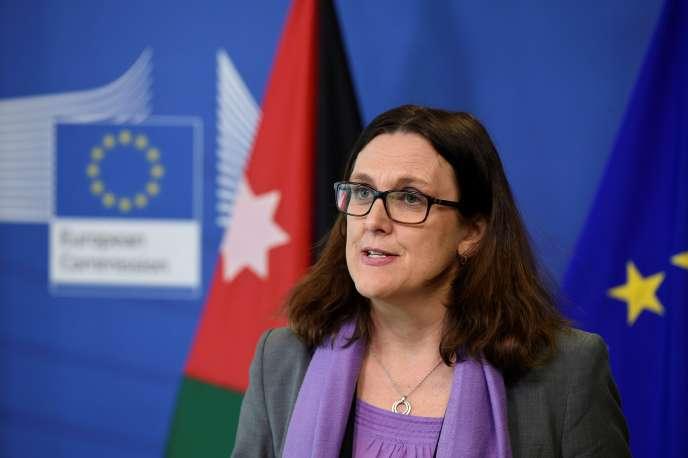 La commissaire européenne au commerce, Cecilia Malmström, à Bruxelles, le 19 mars.
