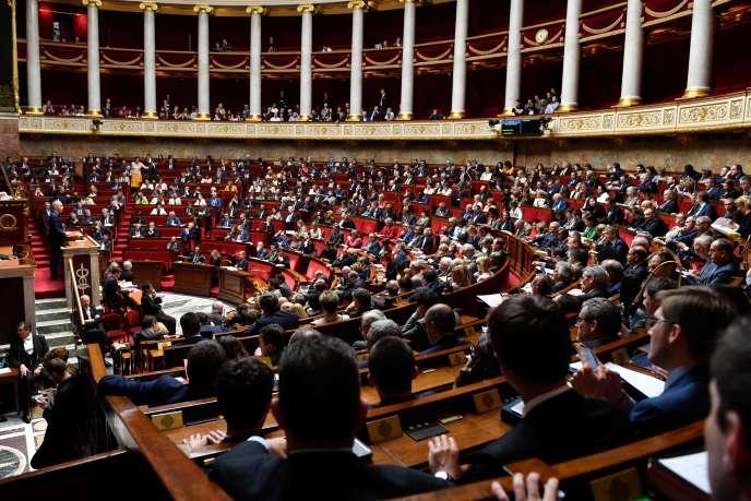 L'Assemblée nationale, le 17 avril 2018.